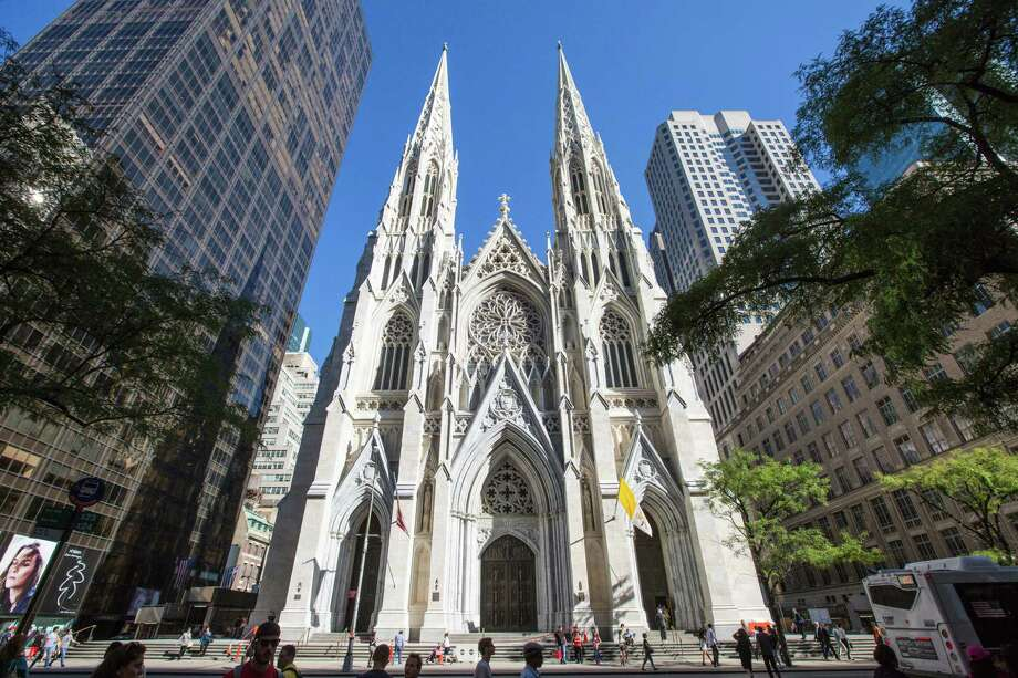 St. Patrick's Cathedral in New York, Sept. 15, 2015. Pope Francis' upcoming visit to the cathedral during his first trip to the United States ended up spurring everyone involved in church's $177 million three-year restoration project to speed things along and finish ahead of the December deadline. (Hiroko Masuike/The New York Times) ORG XMIT: XNYT178 Photo: HIROKO MASUIKE / NYTNS