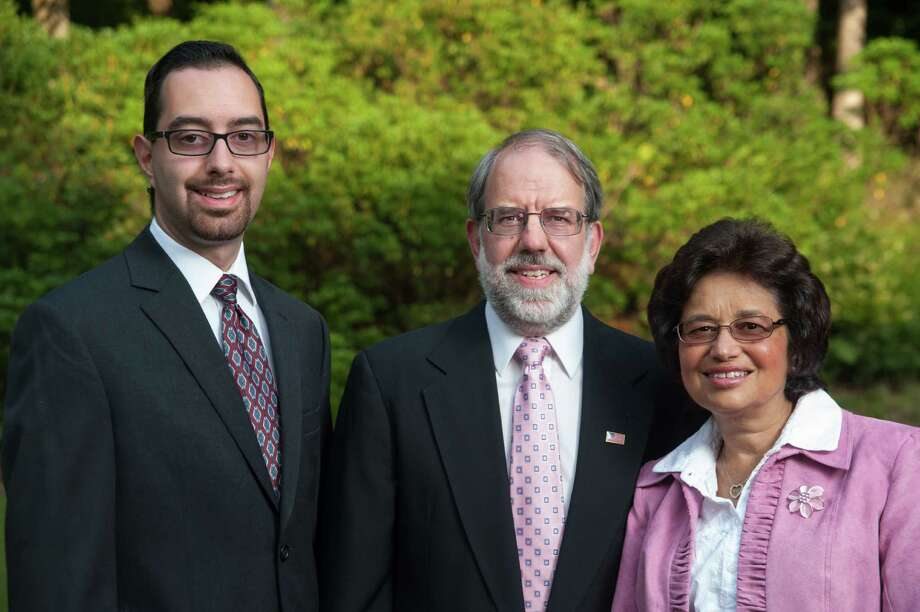 Kevin Sutherland with parents Doug and Terry Sutherland. U.S. Rep. Jim Himes, D-Conn., is a co-author of a bill that would give prosecutors greater leeway to charge the manufacturers and distributors for synthetic drug. The repeat offender who was charged with the murder of Trumbull native Kevin Sutherland had reportedly been using synthetic marijuana before the stabbing. Photo: Matthew Montgomery / Matthew Montgomery Photography / © Matthew MontgomeryConnecticut Post contributed