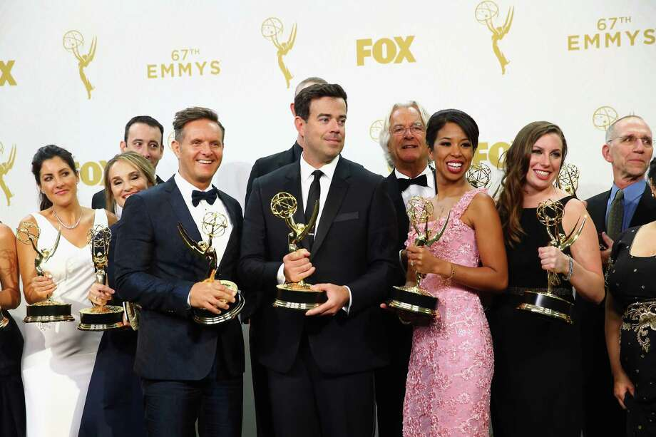 """The Voice"" producers Mark Burnett and Carson Daly won for outstanding reality-competition show. Photo: Mark Davis /Getty Images / 2015 Getty Images"