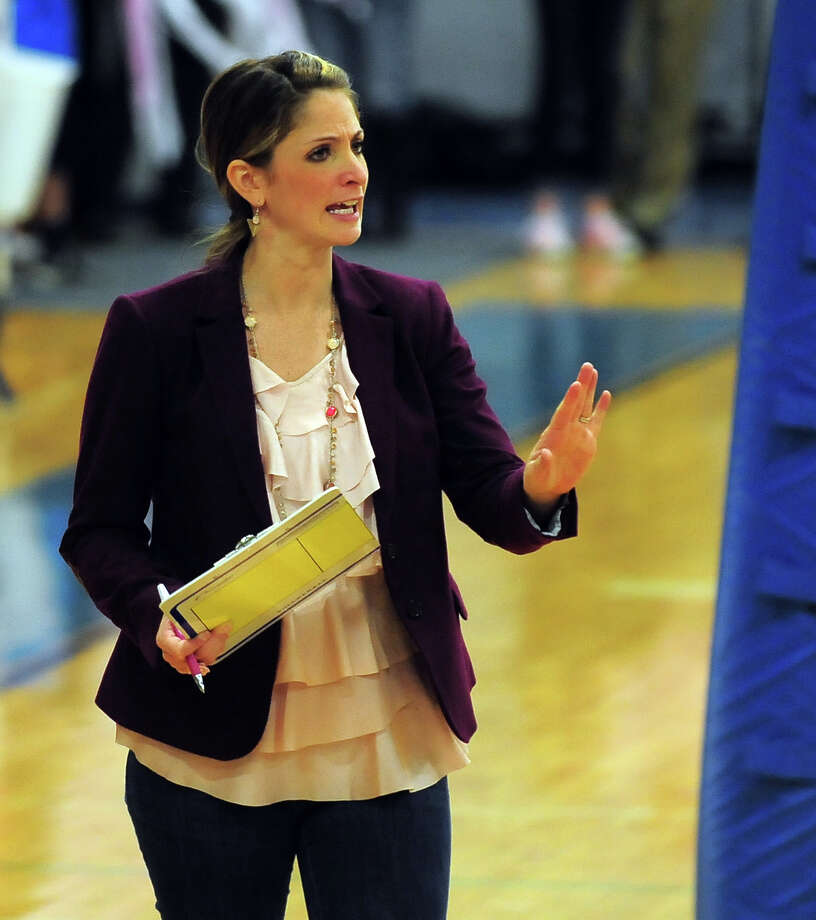 Despite losing six senior's from last year's 20-4 squad, head coach Meghan Skelton is looking to reload this fall, not rebuild, with her Falcons' volleyball team. Photo: Christian Abraham / Christian Abraham / Connecticut Post