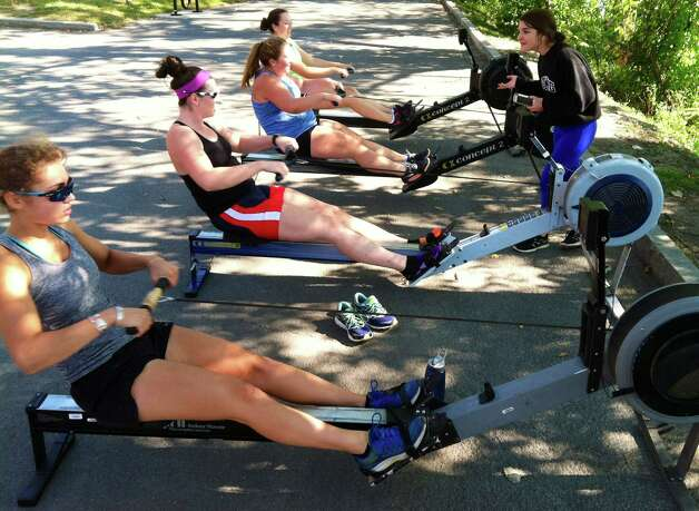 Members of the Albany Rowing Club work out at the Corning Preserve on Saturday Sept. 19, 2015 in Albany, N.Y.  The 29th Head of the Hudson Regatta is Sunday September 20, 2015. (Michael P. Farrell/Times Union) Photo: Michael P. Farrell / 00033354A