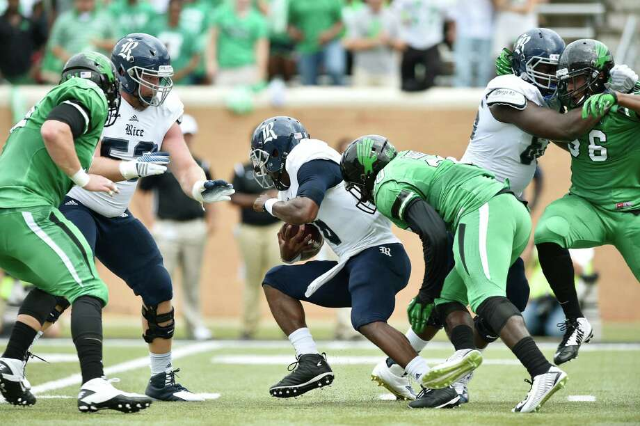 Area highs1. Coach David Bailiff won his 50th game at Rice as quarterback Driphus Jackson was 29-of-39 for a career-high 373 yards and three touchdowns in a 38-24 win over North Texas in the Owls' Conference USA opener. Photo: David Minton, HOUSTON CHRONICLE / Denton Record-Chronicle