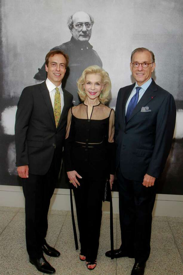 "Christopher Rothko, from left, Lynn Wyatt and Gary Tinterow at the patron's dinner for the opening of ""Mark Rothko: A Retrospective"" at MFAH. Photo: Gary Fountain, For The Chronicle / Copyright 2015 by Gary Fountain"