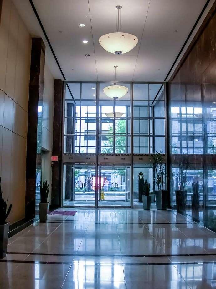 Interior of the 1001 McKinney building.