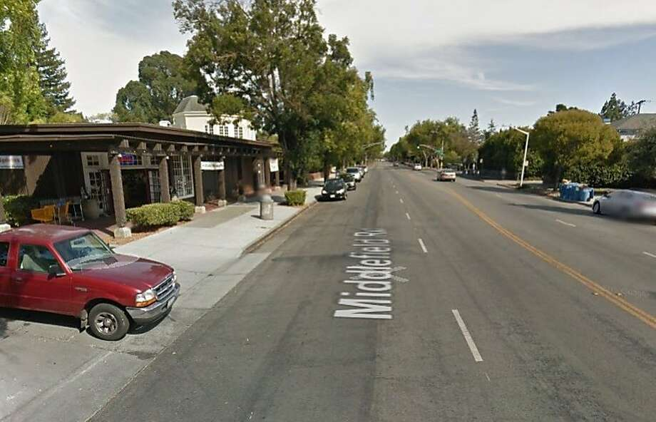 A suspect attacked a woman pushing a stroller Sunday evening along Middlefield Road in Palo Alto. Photo: Google Maps