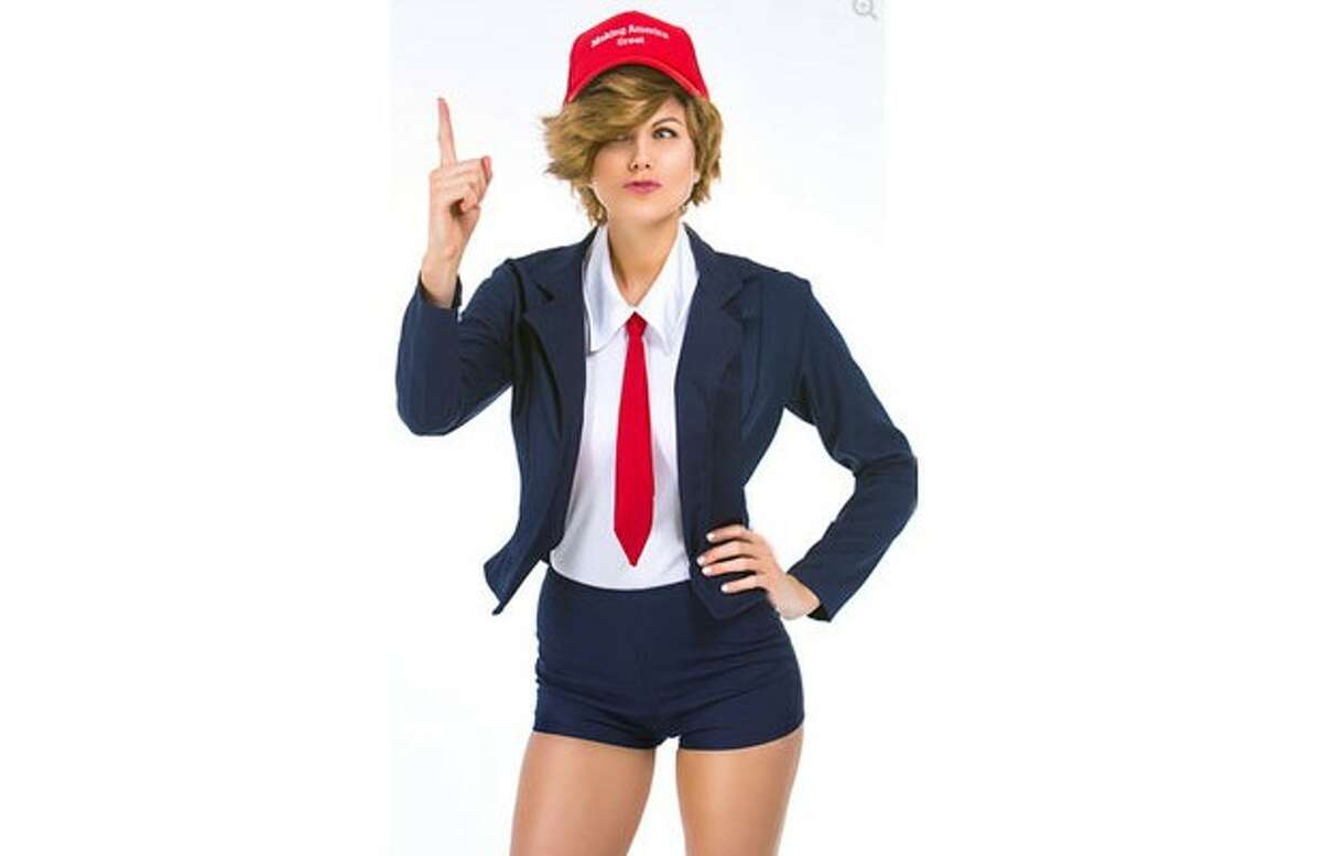 """Other news-related costumes include a """"sexy"""" Donald Trump - is that even possible?"""