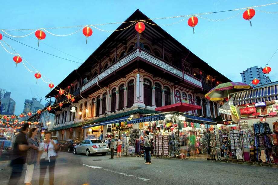 Singapore's Chinatown at night. Photo: Ng Han Boon, Contributor / © copyright Ng Han Boon