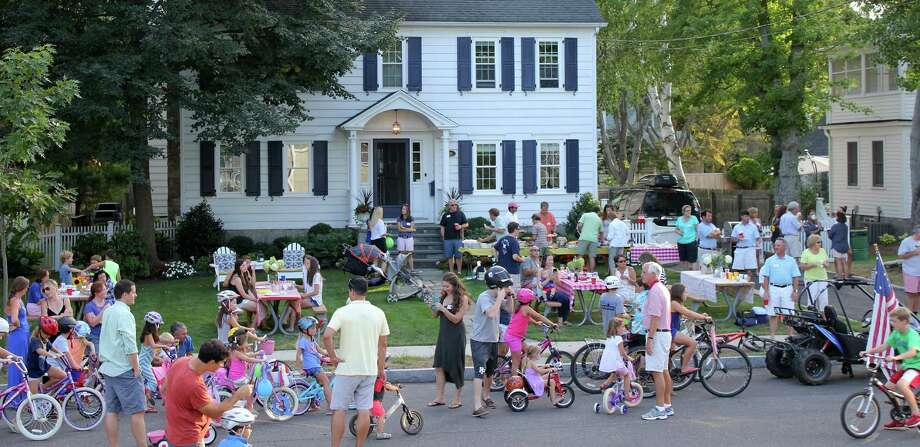 "Lalley Boulevard neighbors filled the street for their 20th block party, ""Lalleypalooza."" Photo: Contributed / Contributed Photo / Fairfield Citizen"