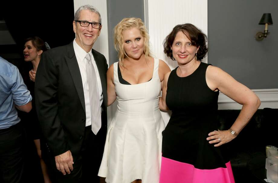 President, Viacom Music & Entertainment Group Doug Herzog, actress Amy Schumer, and Comedy Central President Michele Ganeless attend the Comedy Central Emmys after party at Boulevard3 on September 20, 2015 in Hollywood, California. Photo: Rachel Murray, Getty Images For Comedy Central