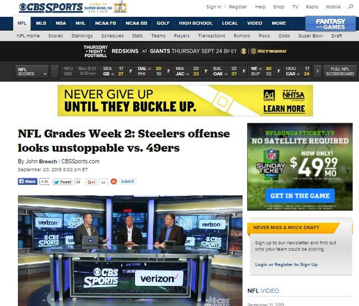 CBS Sports' John Breech The Seahawks earned a