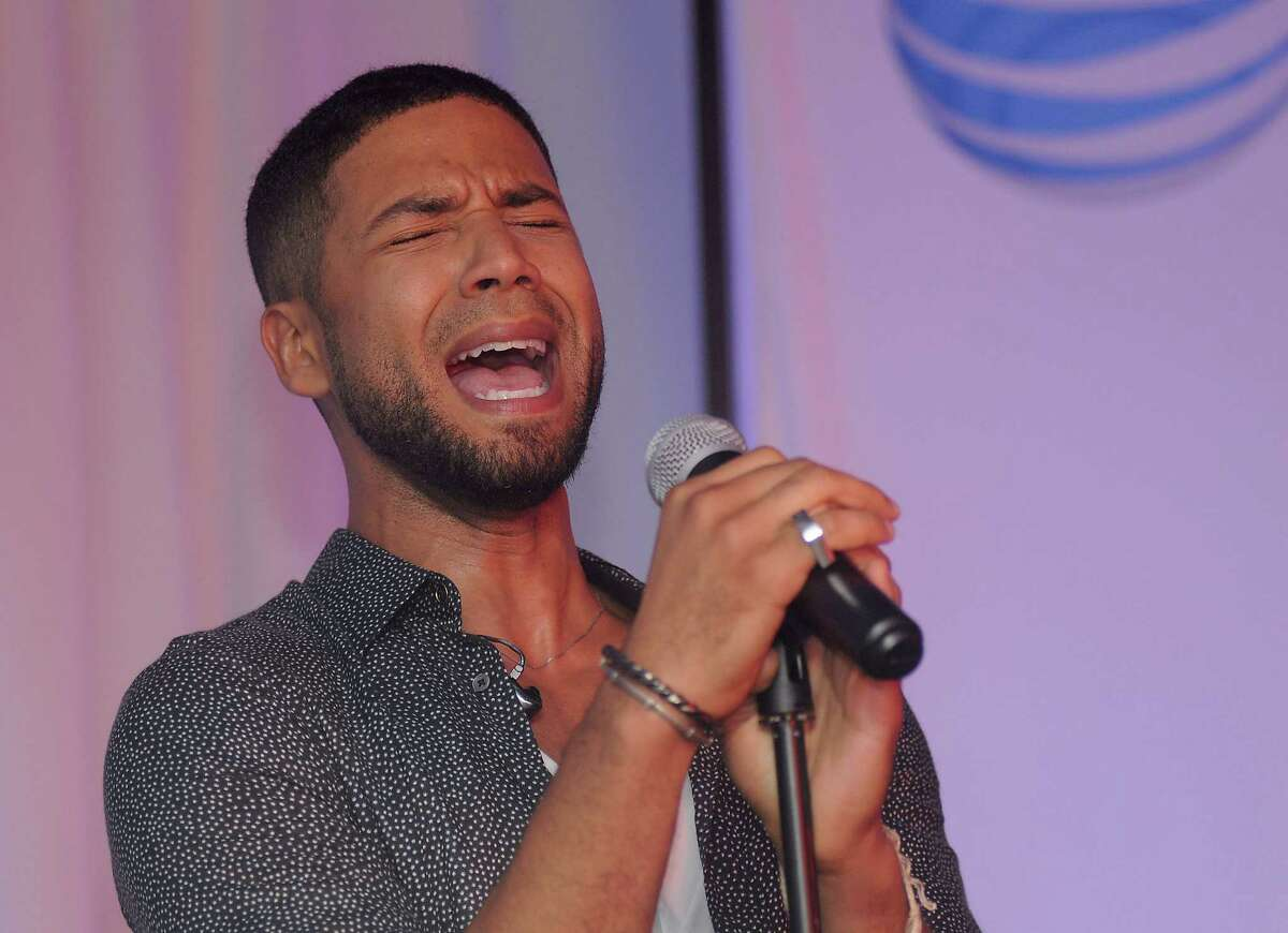 Jussie Smollett performs at the AT&T Studio Live at the AT&T store on the Southwest Freeway Saturday Sept. 5,2015.(Dave Rossman photo)