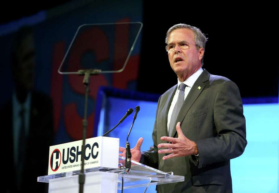 Republican presidential candidate, former Florida Gov. Jeb Bush speaks during the Women In Business and Leadership luncheon at the U.S. Hispanic Chamber of Commerce National Convention, Monday, Sept. 21, 2015, in Houston. (Gary Coronado/Houston Chronicle via AP) MANDATORY CREDIT Photo: Gary Coronado, MBO / Associated Press / Houston Chronicle