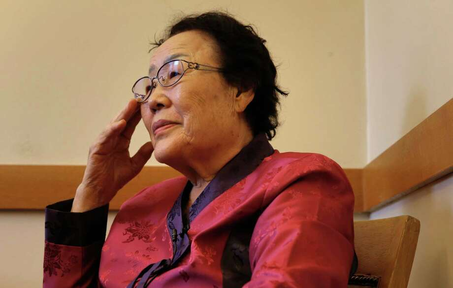 Yong Soo Lee tells of her experience during a visit to City Hall in San Francisco, Calif. on Wed. September 16, 2015. San Francisco Supervisor Eric Mar wants to create a memorial to honor Korean women like Yong Soo Lee who were sex slaves to Japanese soldiers during World War II. Photo: Michael Macor / The Chronicle / ONLINE_YES