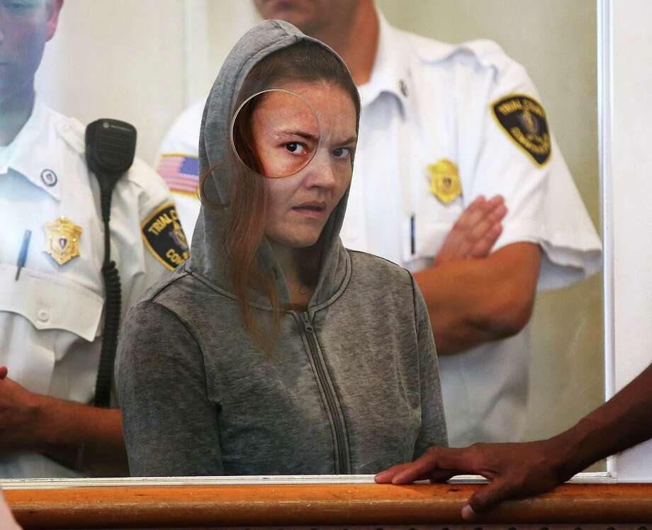 Rachelle Dee Bond, accused of helping her boyfriend dispose of the body of her 2-year-old daughter near Boston, is being held on $1 million bail.   Photo: Pat Greenhouse, POOL / Pool The Boston Globe