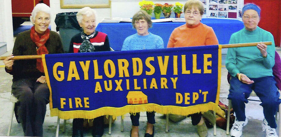 Longtime volunteers The Gaylordsville Volunteer Fire Department's Ladies Auxiliary held a luncheon in 2014 to honor its charter members. The group was organized in 1965. At the luncheon, Jean Sheldon was honored for 49 years of support. Above, charter members are, from left to right, Rosemary Burkhardt, Emmy Parker, Jean Sheldon, Sue Fredlund and Ruth Larson. Burkardt and Larson are now deceased. Courtesy of GVFD Ladies Auxiliary Photo: Contributed Photo / Contributed Photo / The News-Times Contributed