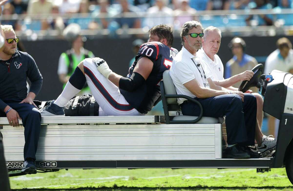 It looked bleak for Texans guard Jeff Adams when he was carted off on Sunday and confirmation came Monday that he would miss the rest of the season.