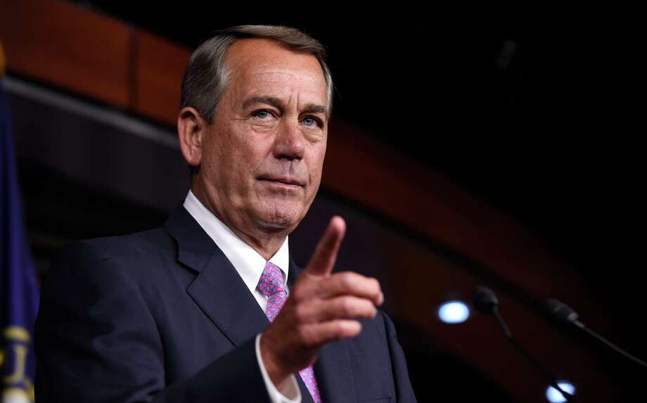 House Speaker John Boehner of Ohio speaks during a news conference on Capitol Hill in Washington, Wednesday, July 29, 2015. An effort by a conservative Republican to strip Boehner of his position as the top House leader is largely symbolic, but is a sign of discontent among the more conservative wing of the House GOP. On Tuesday, Rep. Mark Meadows of North Carolina, who was disciplined earlier this year by House leadership, filed a resolution to vacate the chair, an initial procedural step.(AP Photo/Susan Walsh) Photo: Susan Walsh / Associated Press / AP