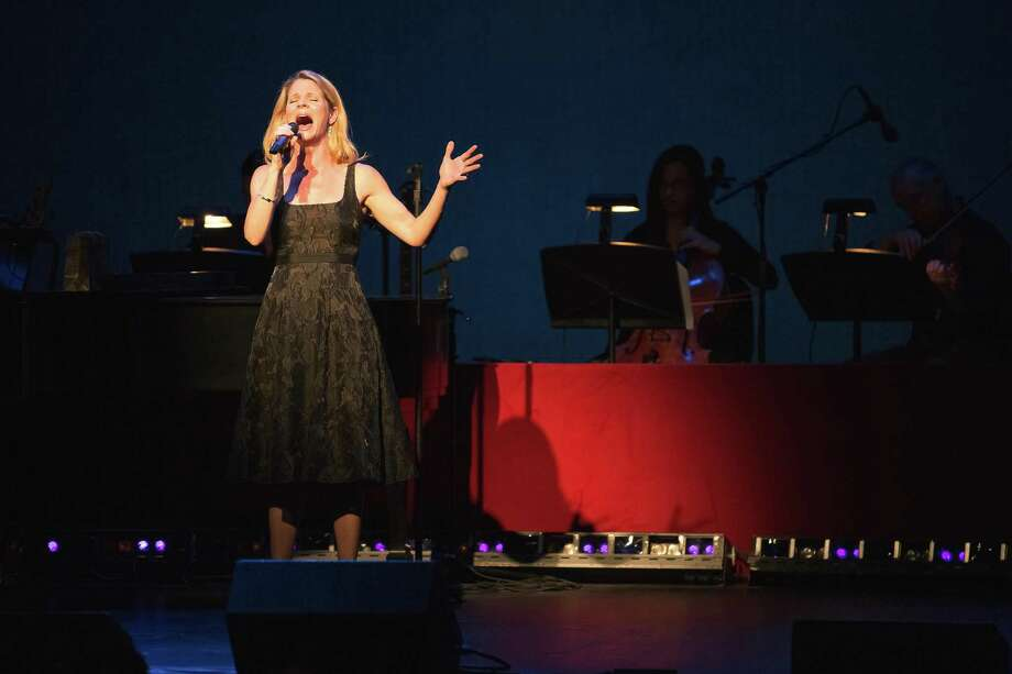 "Kelli OâÄôHara sings âÄúMake Someone Happy"" during the Westport Country Playhouse's annual fundraising gala, where the Tony Award winner was the honoree. Photo: Steve Walter / Shelley Burger / Westport News"