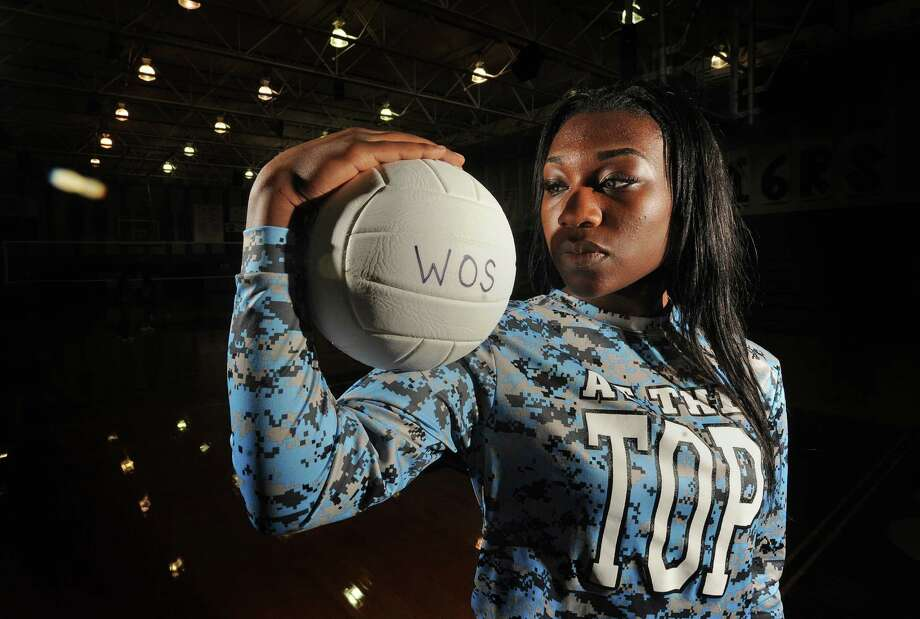 West Orange-Stark's Aailiyah Teel brings the Mustangs power on the court and speed on the track.  Photo taken Monday, September 21, 2015  Guiseppe Barranco/The Enterprise Photo: Guiseppe Barranco, Photo Editor