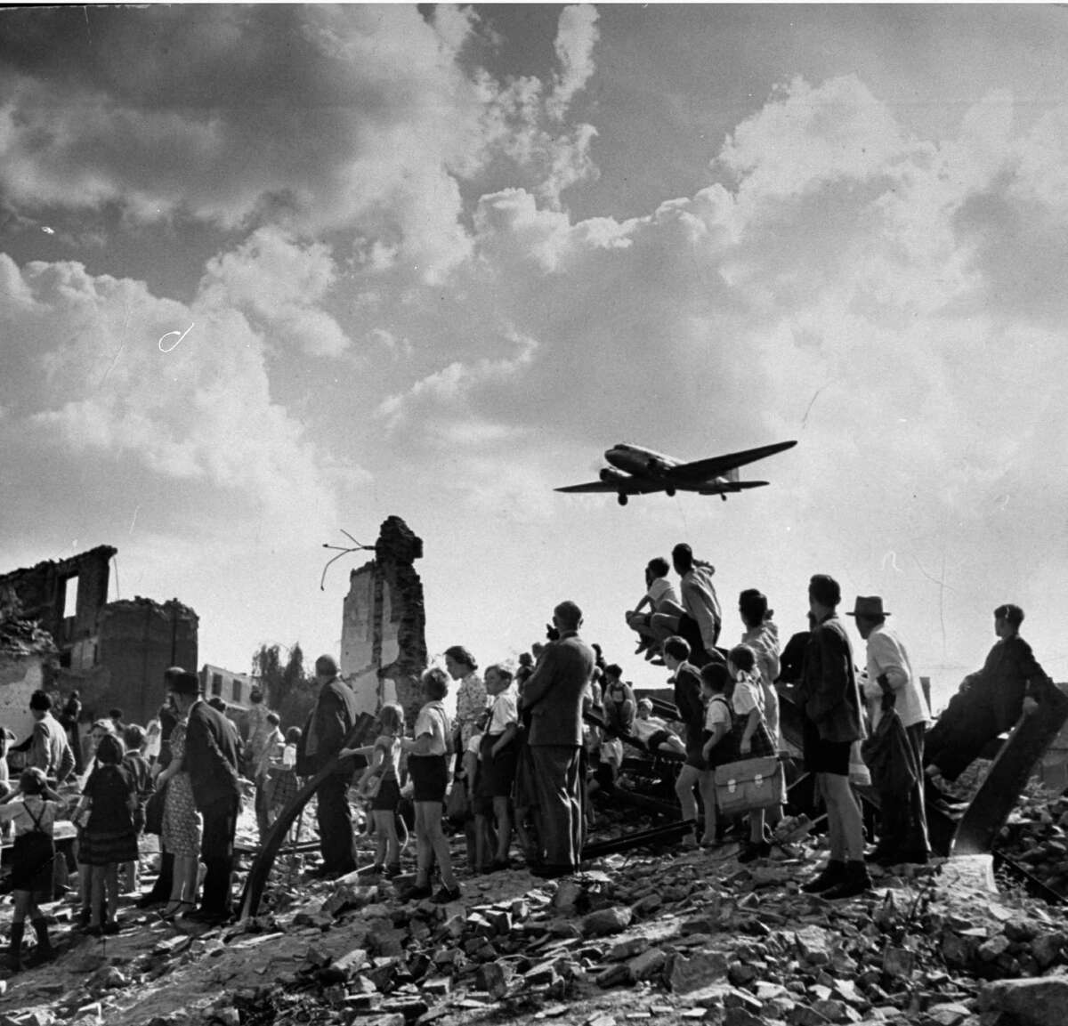The Berlin Airlift - April 1948-May 1949 Widely seen as the first major escalation of the Cold War, America and it's Western allies subverted a Soviet blockade. Moscow wanted the United States out of occupied Berlin, and halted in train and truck traffic in. In response, the United States and allies flew over 200,000 flights to deliver supplies to residents of West Berlin, asserting the Americans' firm claim to the conquered European territories.