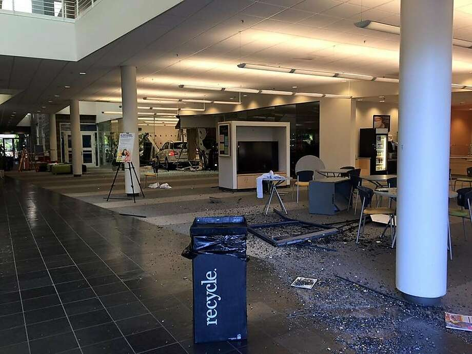 A driver drove through the front of a gym in Livermore Tuesday, injuring several people. Photo: Livermore PD