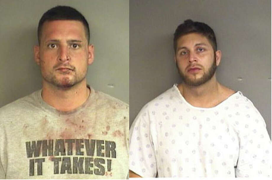 Two New York men were arrested in connection to a vicious home invasion Monday night in Stamford.  Photo: Contributed