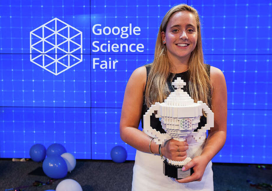 Olivia Hallisey, a 16-year-old Greenwich, Conn. student won the Google Science Fair with a project on a way to detect Ebola. Photo: Andrew Federman / Contributed Photo / Andrew Federman ©2015 Greenwich Time contributed
