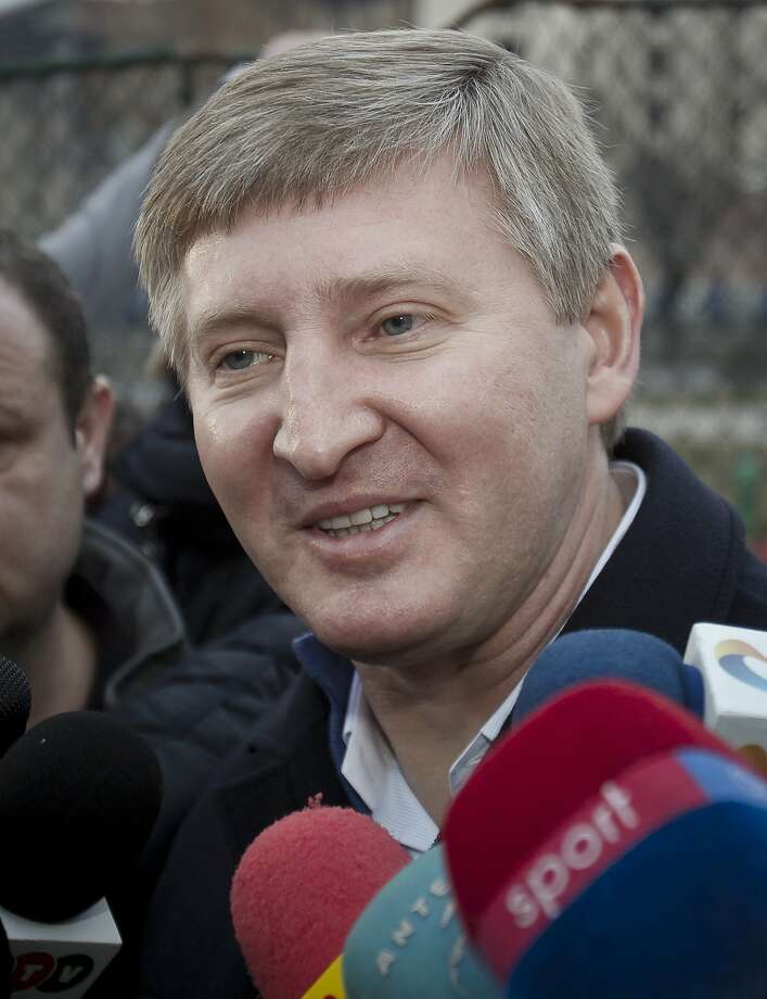 Steel and coal magnate Rinat Akhmetov is worth $6.7 billion, according to Forbes magazine. Photo: Vadim Ghirda, Associated Press