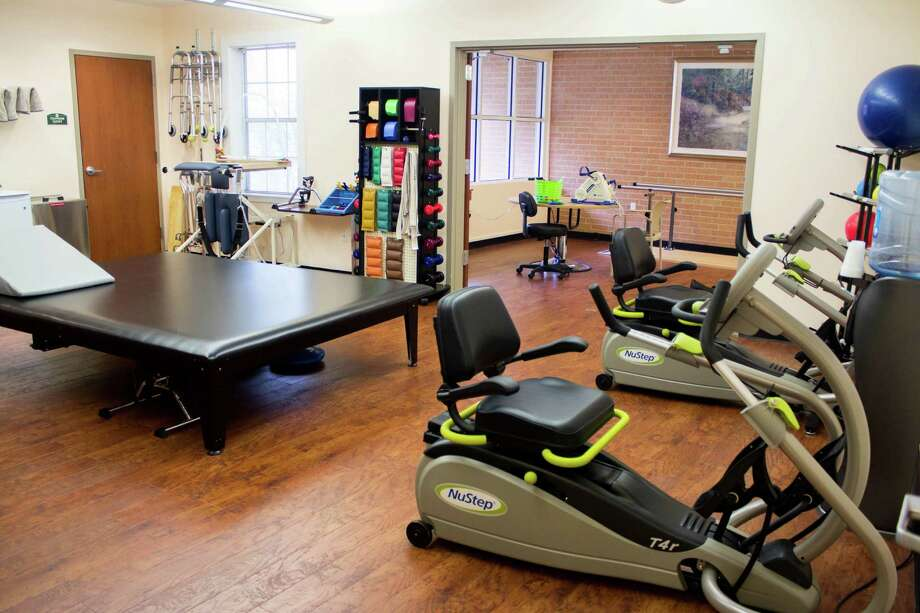 Holly Hall's gym features innovative therapeutic equipment and state-of-the-art technology.