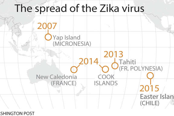 Where the Zika virus has spread; the newly emerging virus is transmitted  by insect bites and sexual contact.
