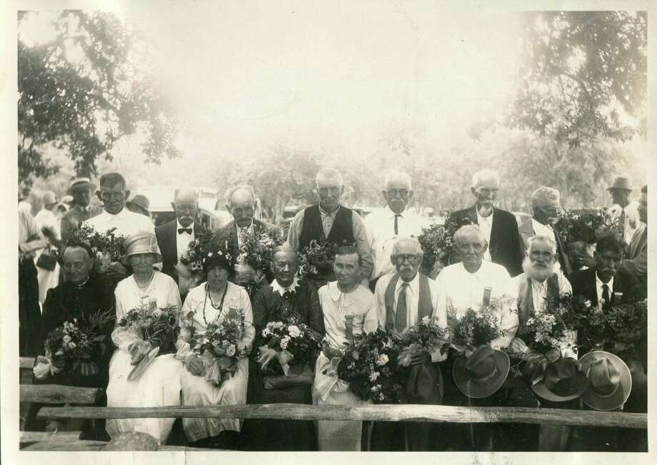Some of the early Polish settlers of Bandera are here in this undated group photo. Photo: San Antonio Express-News