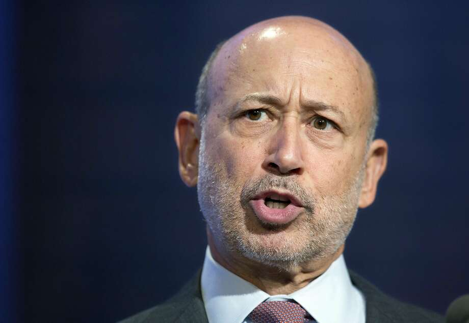 "FILE - In this Sept. 24, 2014 file photo, Lloyd Blankfein, Chairman and CEO of Goldman Sachs, speaks in a panel discussion  at the Clinton Global Initiative in New York.  Blankfein said that he has a form of lymphoma that is ""highly curable."" In a post on the firm's website Tuesday, Sept. 22, 2015,   he underwent a series of tests after not feeling well for several weeks.   (AP Photo/Mark Lennihan) Photo: Mark Lennihan, Associated Press"