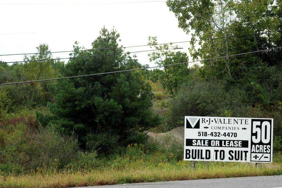 Land at the south east corner intersection of routes 9 and 20 with route 150 on Tuesday Sept. 22, 2015 in Schodack, N.Y.  (Michael P. Farrell/Times Union) Photo: Michael P. Farrell / 00033460A