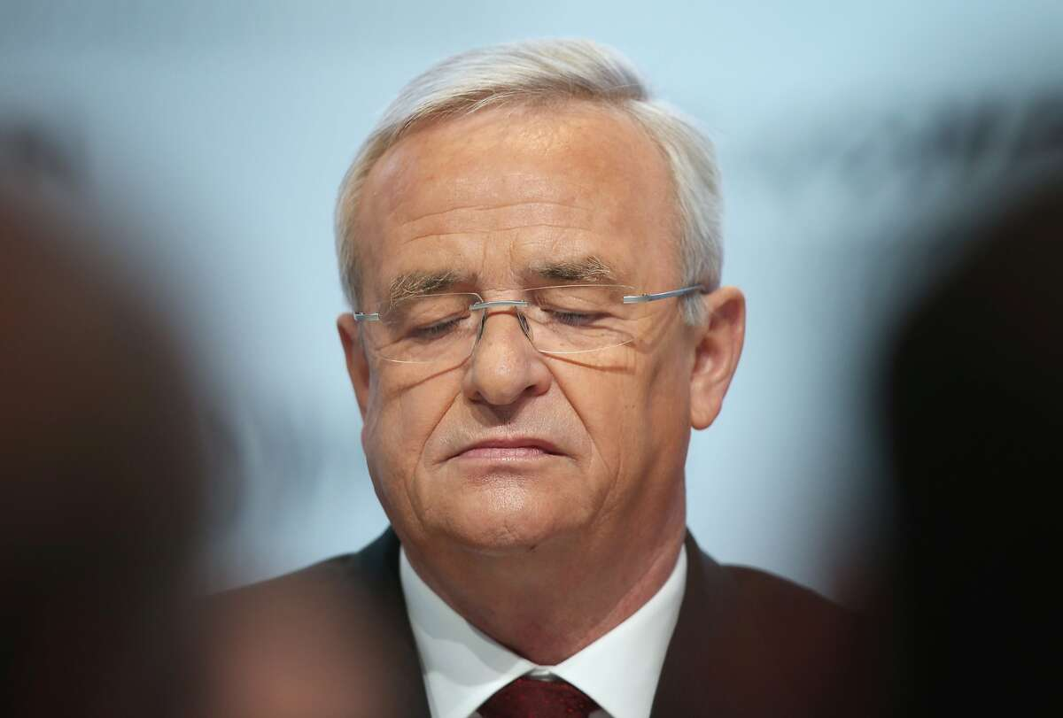 WOLFSBURG, GERMANY - SEPTEMBER 22: In this file photo Volkswagen CEO Martin Winterkorn attends the company's annual press conference on March 13, 2014 in Wolfsburg, Germany. Winterkorn announced on September 22, 2015 that he will not step down following the diesel emissions scandal that Volkswagen has admitted could affect up to 11 million VW cars. (Photo by Sean Gallup/Getty Images)