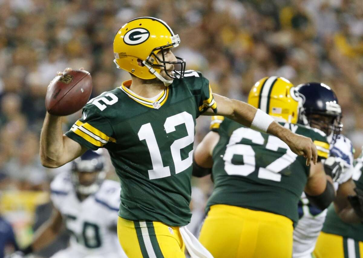 2. Green Bay (2-0) Last week: 2 The Packers host the Chiefs. Aaron Rodgers has thrown 38 touchdown passes at Lambeau Field since suffering his last interception at home.