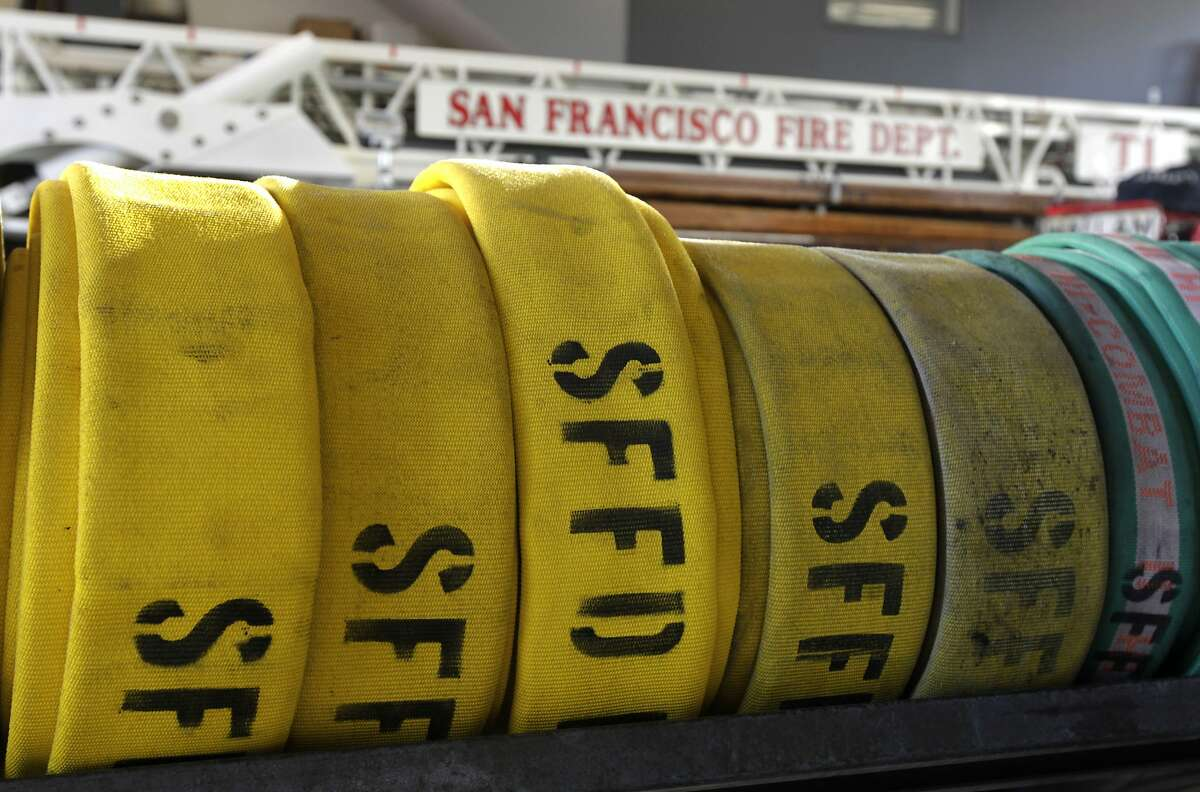 Fire hoses are rolled up inside the fire department's station 1 in San Francisco, Calif. on Wednesday, Oct. 22, 2014. Located on Folsom Street in the one of the densest neighborhoods in the city, fire station 1 is consistently the busiest firehouse in the nation, often handling more than 40 calls a day.