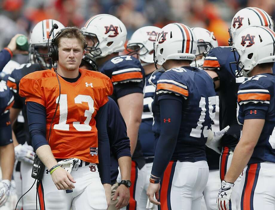 Freshman Sean White's only passes for Auburn came in the spring game. Saturday he'll start against Mississippi State. Photo: Brynn Anderson, Associated Press