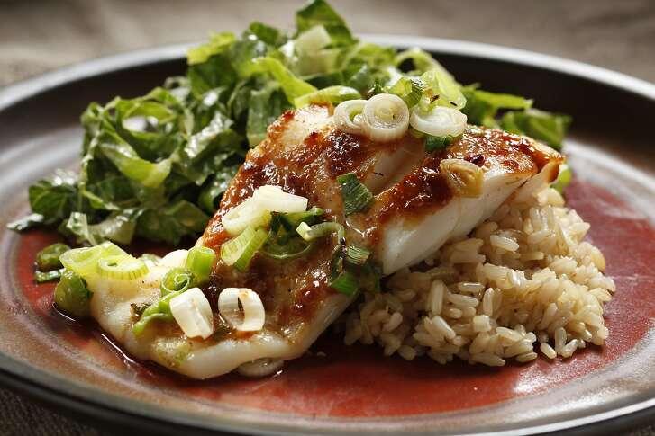 Fish with Miso Sauce & Creamy Ponzu Salad