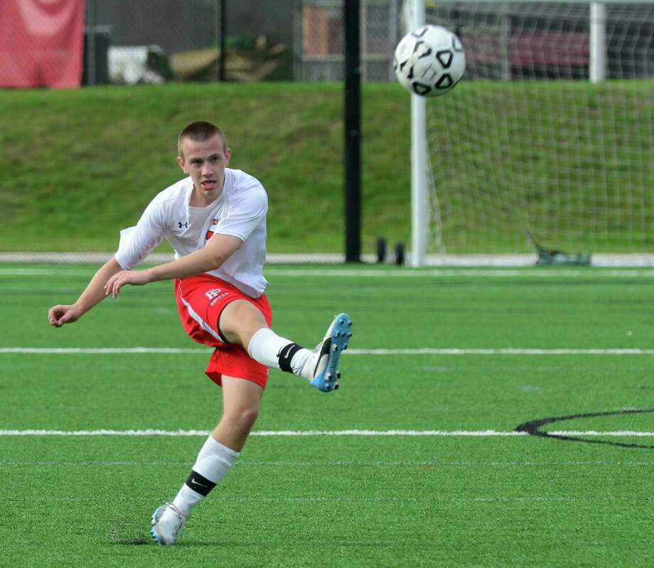 Boys soccer action between Fairfield Prep and Guilford at Fairfield University in Fairfield, Conn., on Tuesday Sept. 22, 2015. Photo: Christian Abraham / Hearst Connecticut Media / Connecticut Post