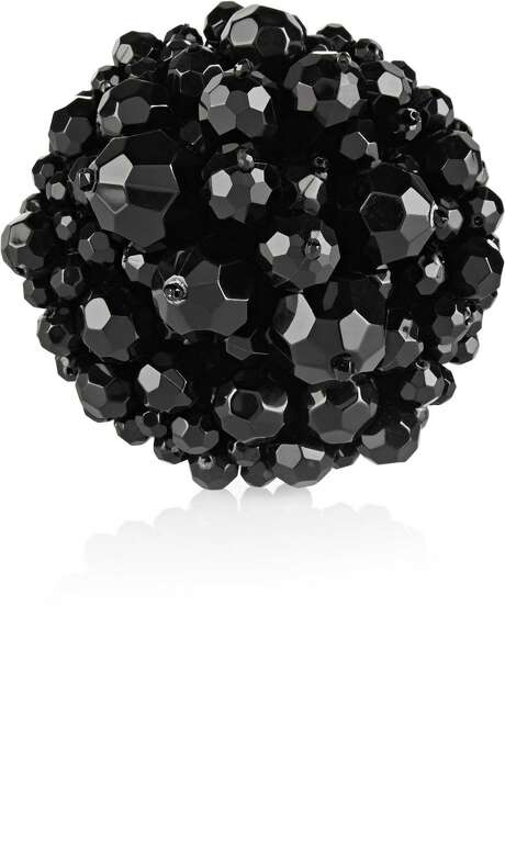Simone Rocha black beaded brooch, $305, at net-a-porter.com Photo: Net A Porter /McClatchy-Tribune News Service / Chicago Tribune