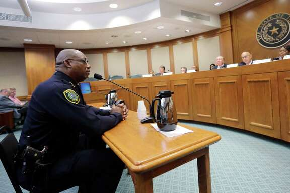 Houston Police Chief Charles McClelland told the Senate Criminal Justice Committee about how his agency handles mentally ill offenders and diverts them from the city jail.