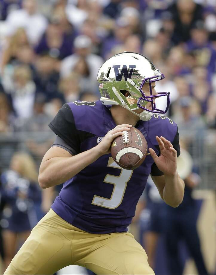 Washington quarterback Jake Browning has drawn comparisons to Cal's Jared Goff. Photo: Ted S. Warren, Associated Press