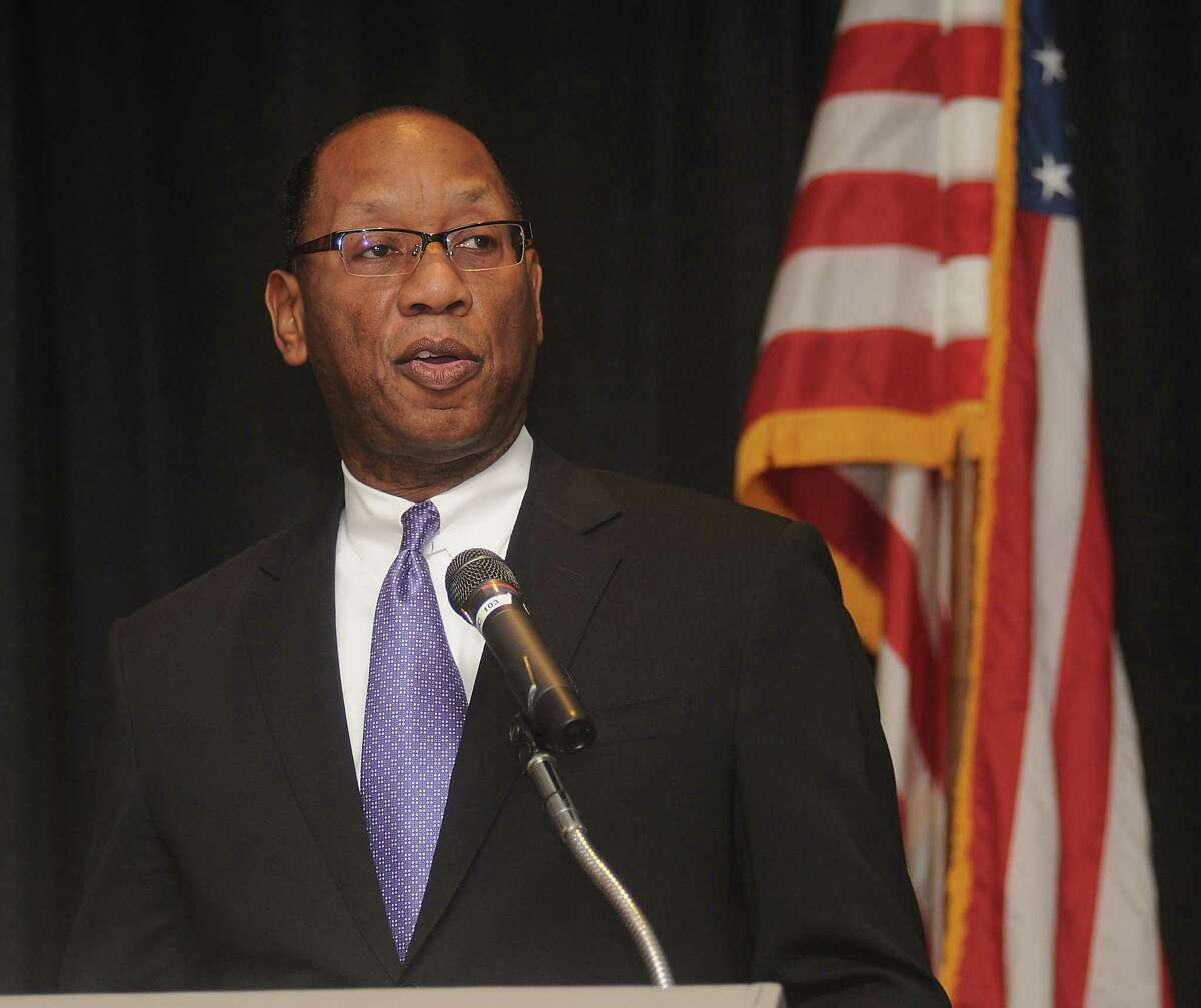 Mayoral candidate Ben Hall speaks at the Greater Heights Area Chamber of Commerce luncheon at the Sheraton Houston Brookhollow Wednesday August 12, 2015.(Dave Rossman photo)