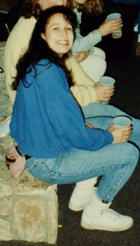 The author circa 1988 at a Chico State frat house basement party wearing a hot pink fanny pack and high top Velcro Reeboks with scrunched down socks. (Photo: Renee Cashmere).  Renee Cashmere is a relationship blogger. Got a question, comment, or need advice? Reach her at reneecashmere@gmail.com