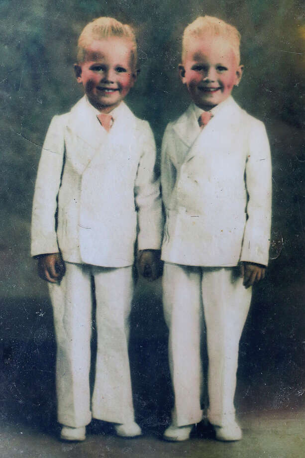 Twins Harry and Harold Hedrick as children growing up in San Antonio. Photo: Lisa Krantz /San Antonio Express-News / SAN ANTONIO EXPRESS-NEWS