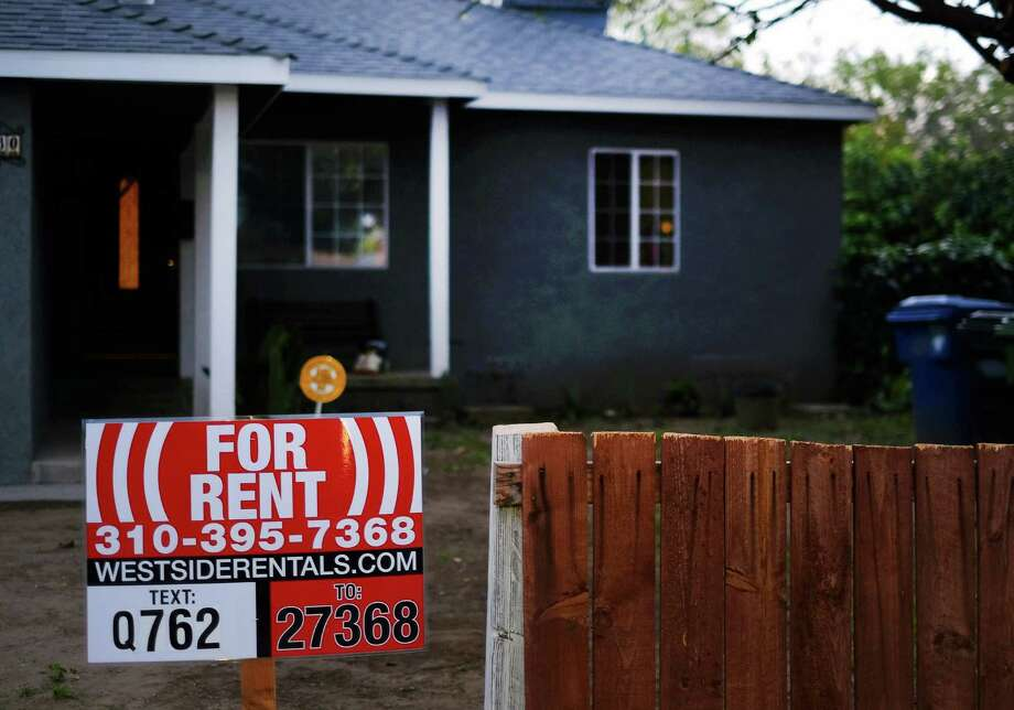 FILE - This Friday, Feb. 27, 2015 file photo shows a sign advertising a house for rent in Los Angeles. Real estate data firm Zillow releases its August data on rental prices around the country on Tuesday, Sept. 22, 2015. (AP Photo/Richard Vogel, File) Photo: Richard Vogel, STF / AP