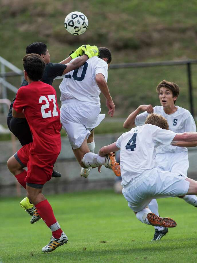 Greenwich High School against Staples High School during a boys soccer game played at Staples High School, Westport, CT on Tuesday, September 22, 2015. Photo: Mark Conrad / For Hearst Connecticut Media / Stamford Advocate Freelance