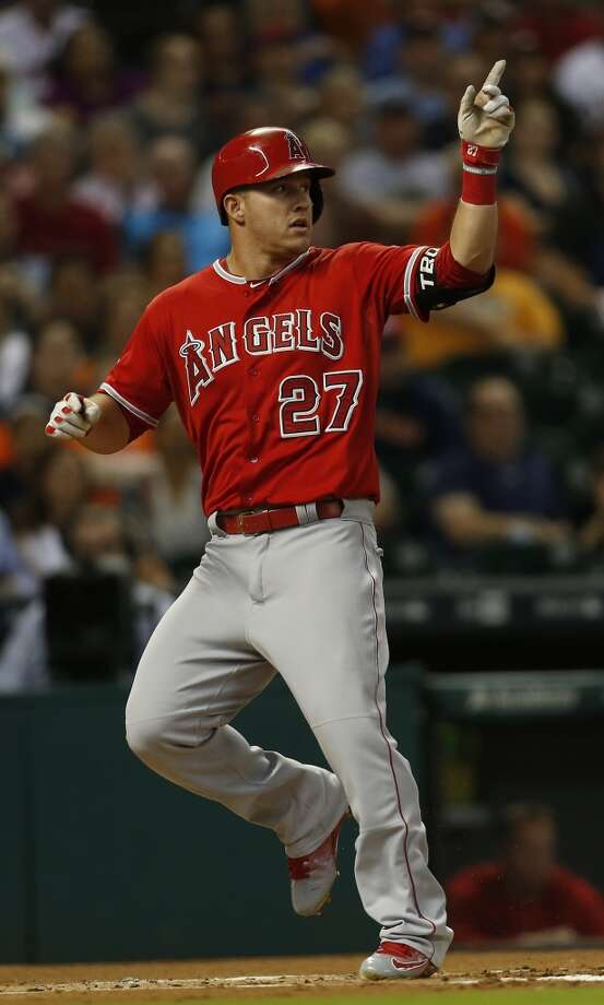 Mike Trout came into Wednesday worth an even 10.0 wins above replacement, according to baseball-reference.com, more than a full win better than the next-best player (Mookie Betts, 8.9). Photo: Karen Warren, Houston Chronicle