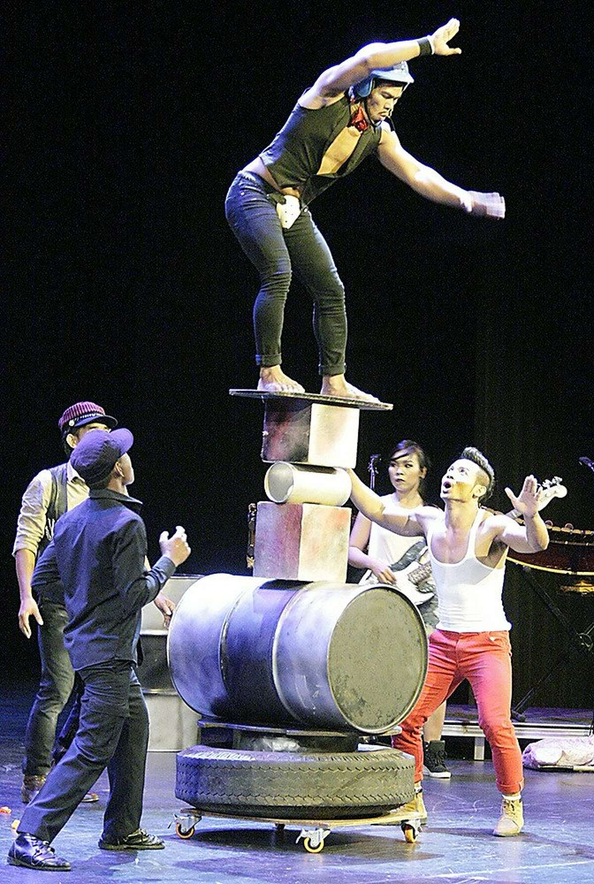 Phare, the Cambodian Circus, performing its show