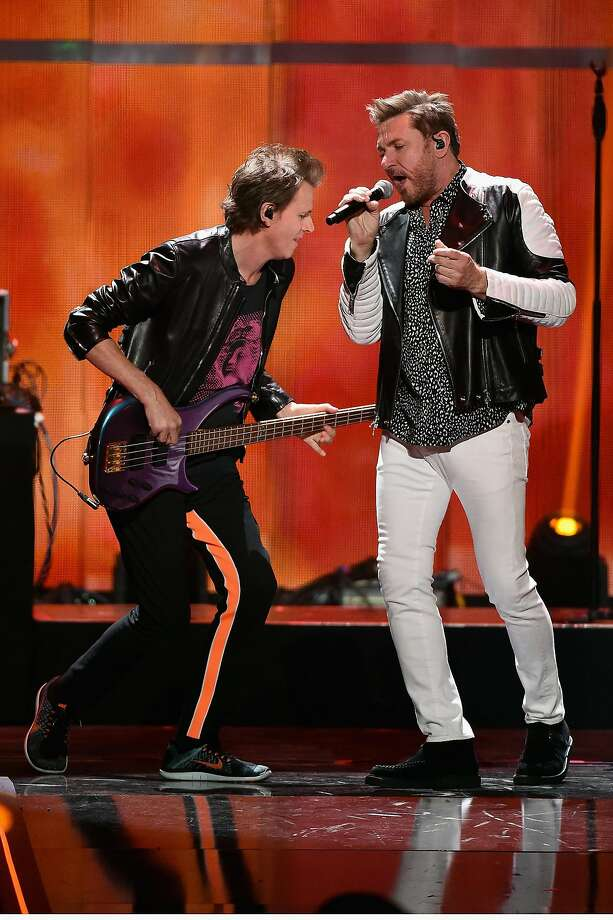 Duran Duran, with John Taylor (left) and Simon Le Bon, remains current. Photo: Ethan Miller, Getty Images For IHeartMedia